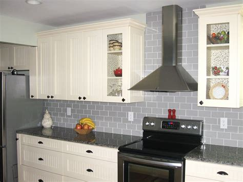 small kitchen decoration using light blue subway modern