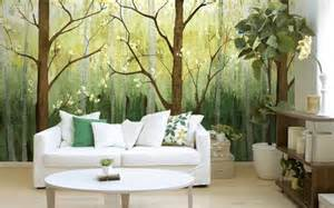 Photographic Wall Murals 15 Impressive Wall Mural Ideas That Bring The Outdoors In