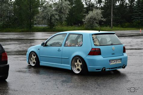 Mk4 Volkswagen by Modified Cars Volkswagen Cyan Golf Mk4 With White Roof Top