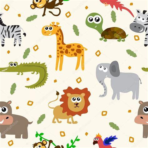 imagenes infantiles animales patr 243 n sin fisuras de animales africanos animales