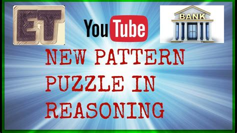 new pattern bank exam new pattern reasoning for bank exams youtube