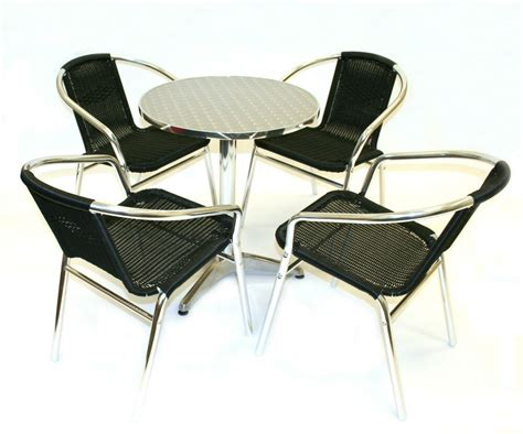 cheap outdoor table and chairs black rattan bistro furniture cafe table and chairs