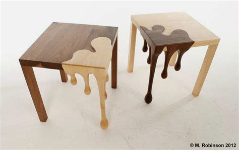 interesting tables unique wooden table with droplets sculpture fusion table