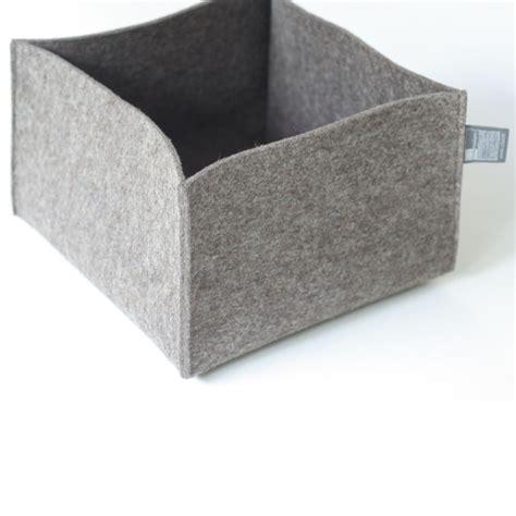 bettdecke aufbewahrung filzkorb grau braun filzk 246 rbe aufbewahrungsk 246 rbe tuchmacherin