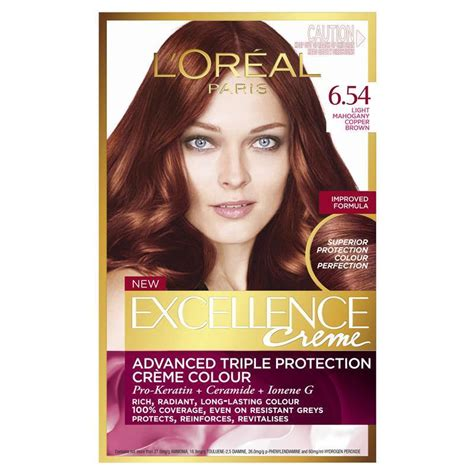 light mahagony copper blonde l oreal excellence creme 6 54 light mahogany copper