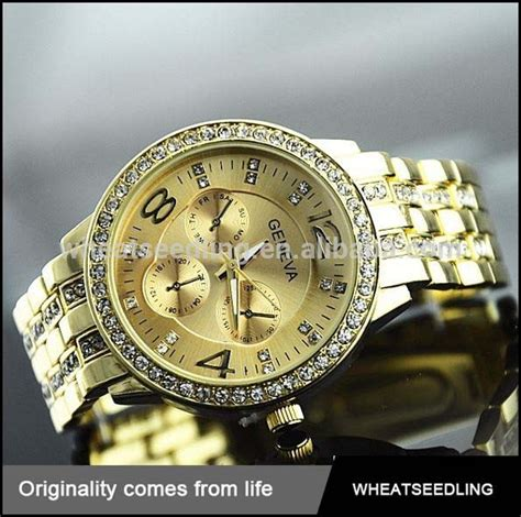 wholesale most expensive gold quartz stainless steel