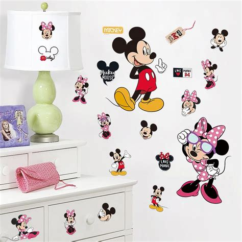 mickey mouse bedroom stickers online get cheap minnie mouse bedroom decor aliexpress
