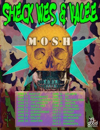 sheck wes tour sheck wes and valee announce the quot mosh tour quot for summer
