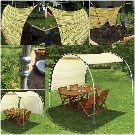 Diy Outdoor Awning by Diy Adjustable Outdoor Canopy How To