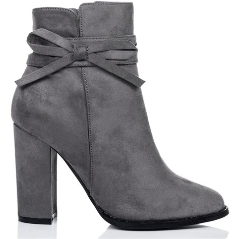 Boots Grey grey ankle boots with heel yu boots