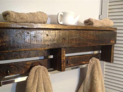 handmade reclaimed pallet wood shelf entry organizer coat