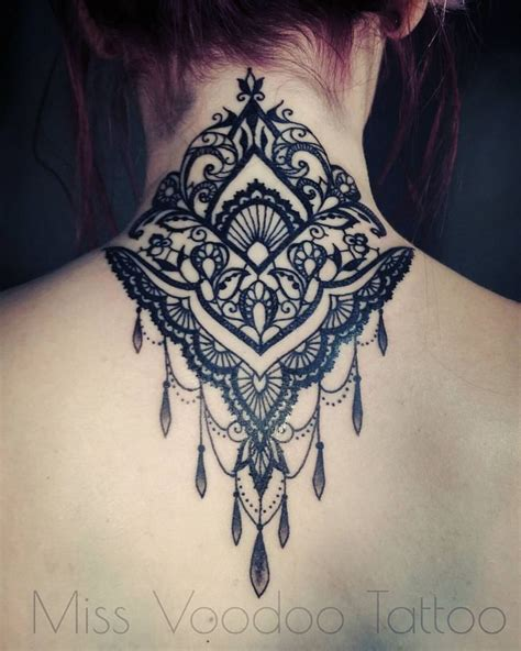tattoo on nape of neck designs missvoodoo tatto nape and