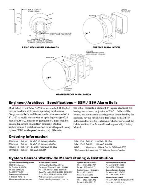 system sensor ssv120 6 wiring wiring diagrams wiring