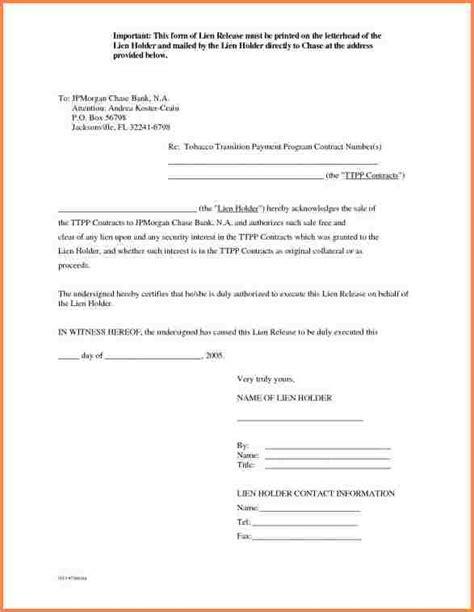 lien release request letter 7 auto lien release letter template adjustment letter