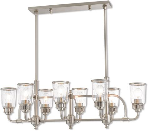 Brushed Nickel Kitchen Island Lighting Livex 40028 91 Lawrenceville Modern Brushed Nickel Kitchen Island Light Lvx 40028 91