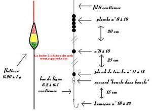 montage de ligne peche en etang