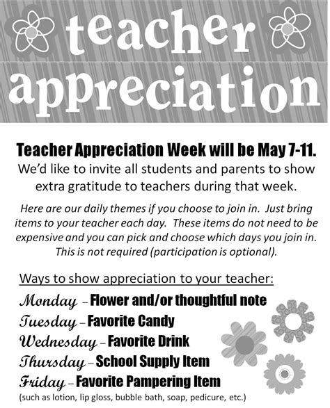 appreciation week 2014 letter to parents great idea for celebrating a everyday during
