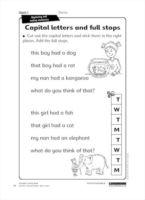 Capital letters and full stops - Scholastic Shop