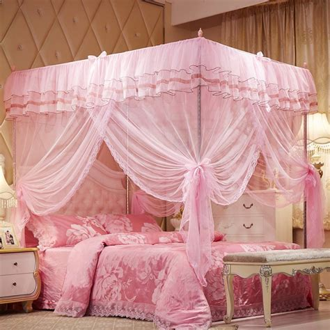 twin canopy beds for girls princess lace bed canopy mosquito net poster ruffles pink
