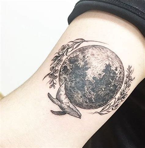 moon flower tattoo 99 moon tattoos that will illuminate your imagination