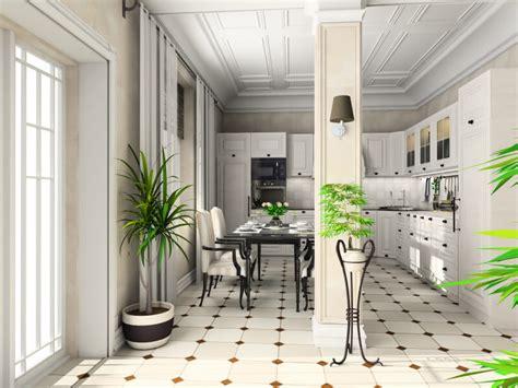 white kitchen patterned floor 41 white kitchen interior design decor ideas pictures