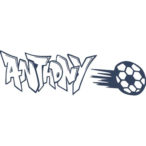 Wall Stickers For Laundry Room stickers anthony graffiti football art amp stick