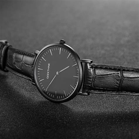 Clepsydra Luxury Minimalist Leather Quartz geekthink minimalist top brand luxury quartz