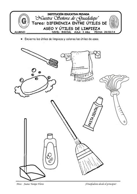 imagenes para colorear utiles de aseo personal diferencia entre utiles de aseo y de limpieza