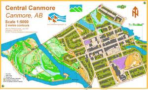 canmore canada map canmore orienteering