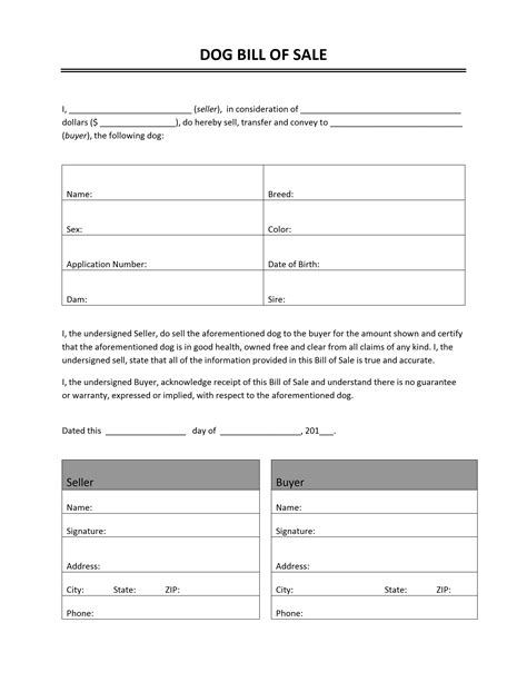 Free Printable Bill Of Sale Templates Form Generic Bill Of Sales Template