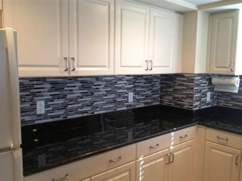 kitchen design ideas for a gray tile backsplash saura v