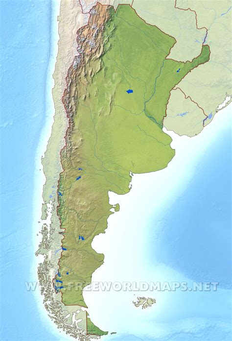 argentina physical map argentina physical features www imgkid the image