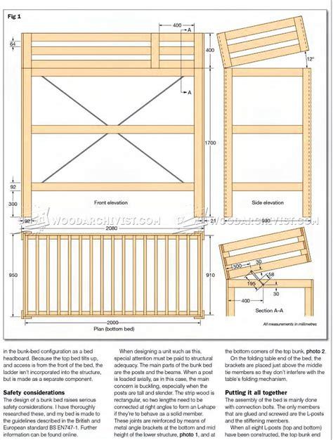 kids bed plans convertible bunk bed plans woodarchivist