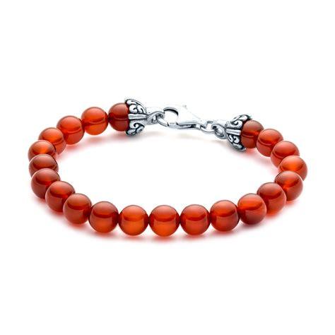 elements gemstone bead bracelet 8mm carnelian landing