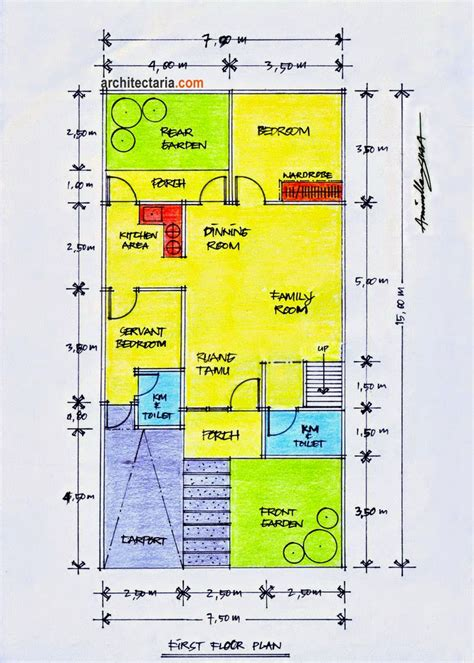 desain rumah minimalis  lantai ukuran  foto desain rumah terbaru