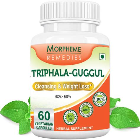 Detox For Weight Loss India by Morpheme Triphala Guggul Supplements For Cleansing