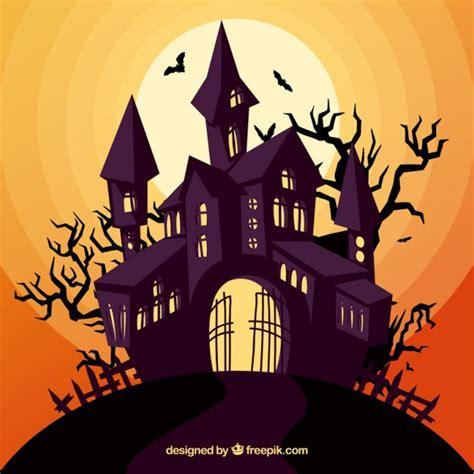 imagenes de halloween tenebrosas enchated halloween huis vector gratis download