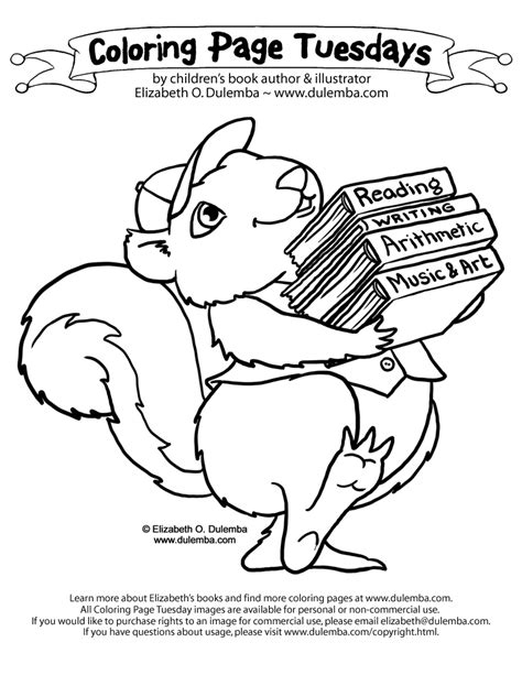 color your look great spend less books dulemba coloring page tuesday back to school squirrel