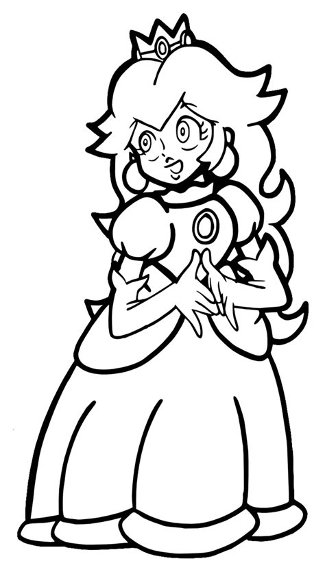 princess peach coloring pages free large images