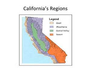 map of california regions california regions