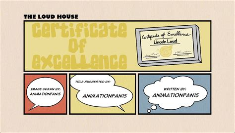 The Loud House Title Card Template by User Animationfan15 Certificate Of Excellence The
