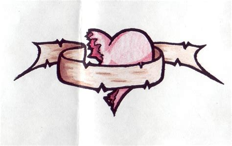 broken heart tattoos designs broken designs