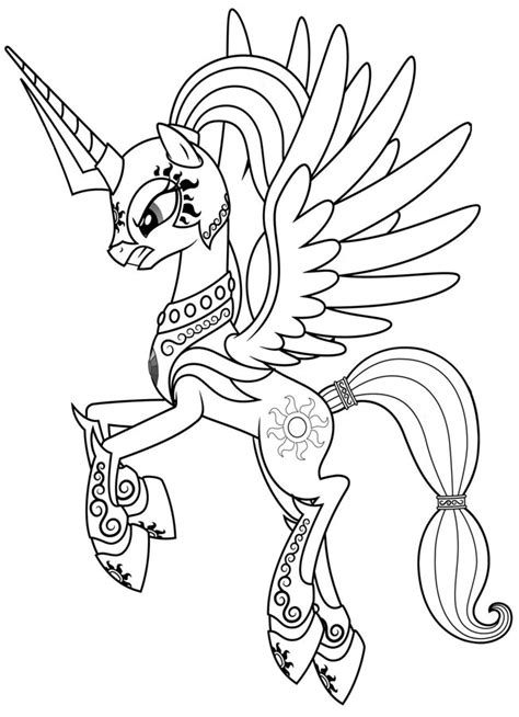 alicorn filly coloring pages printable coloring pages