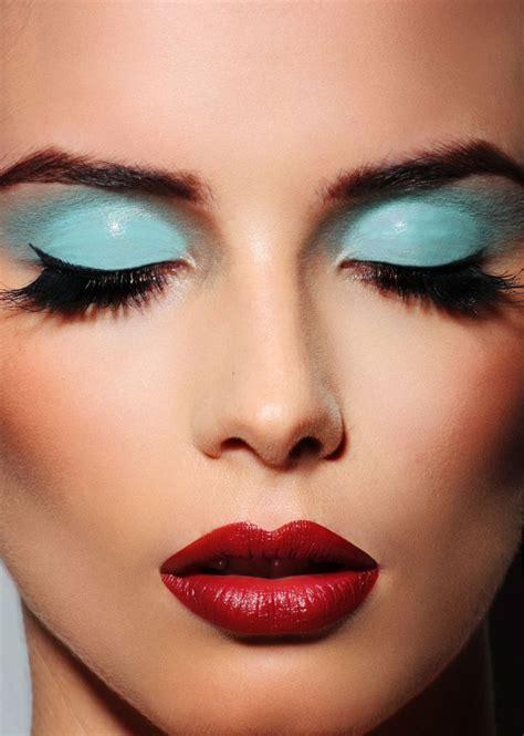 Eye Shadow Lip Light Blue Eyeshadow Oxblood