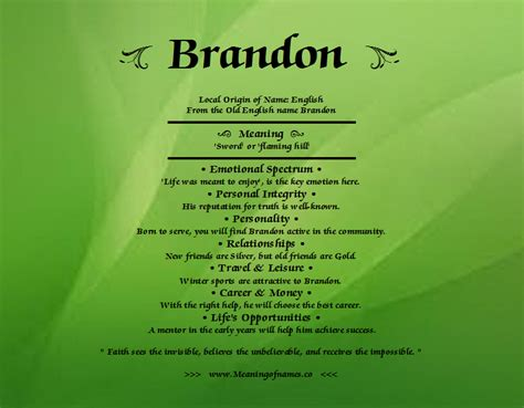 name meaning brandon meaning of name