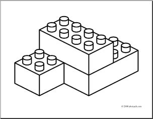 lego brick coloring page black and white blocks clipart clipart suggest