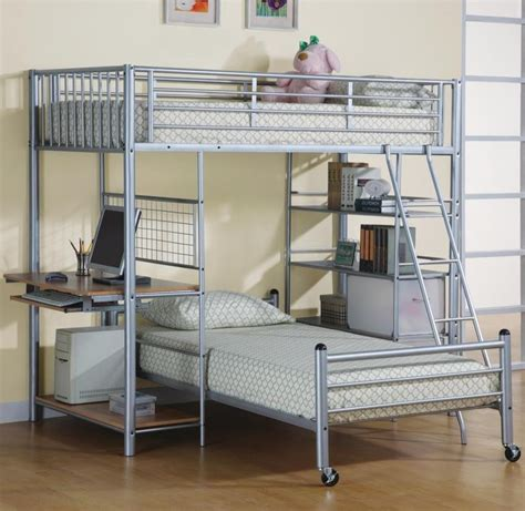 Loft Beds With Desk by Best 25 Bunk Bed With Futon Ideas On Loft Bed