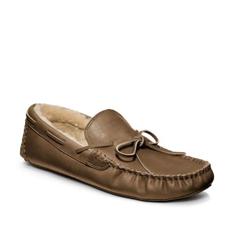 coach slipper coach oswin slipper in brown for taupe lyst