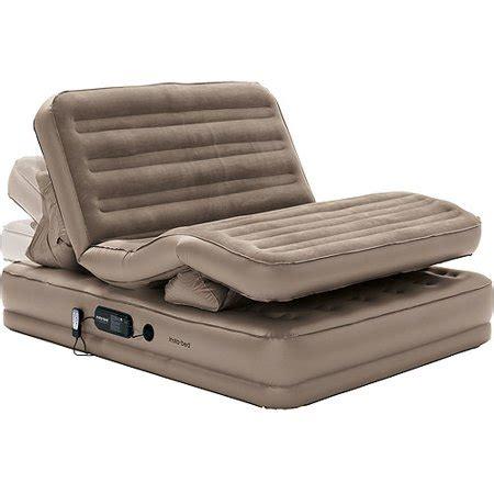 insta bed tm raised insta flex queen air bed  built
