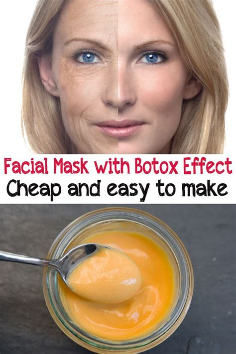 Masker Botox mask with botox effect cheap and easy to make